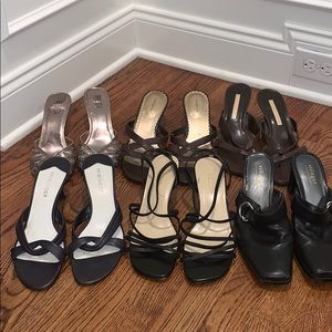 Lot of 6 women's slip on heels in size 8.5